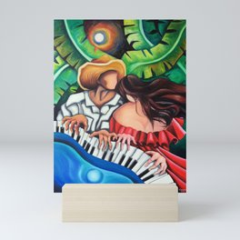Blue piano Mini Art Print