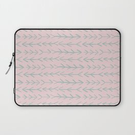 Contemporary Pink and Mint Arrow Pattern Laptop Sleeve
