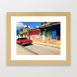 Cars in Cuba Framed Art Print