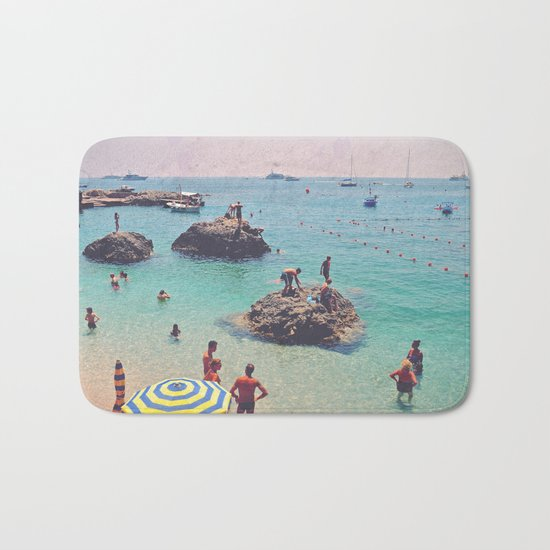 Let's Jump Off The Rocks Bath Mat
