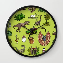 Jurassic pattern lighter Wall Clock