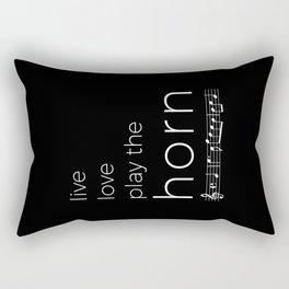 Live, love, play the horn (dark colors) Rectangular Pillow