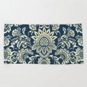 damask in white and blue vintage by chiccabesso