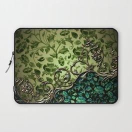 Wonderful floral design, green colors Laptop Sleeve