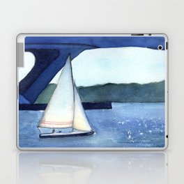 """""""Off to a journey"""" Sailboat Watercolor Painting Laptop & iPad Skin"""