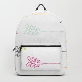 Hand Sketched Flower Vines Backpack