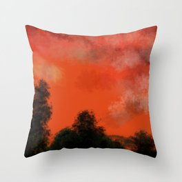 Coral sunrise Throw Pillow