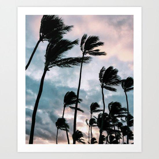 Palm trees, Bavaro beach Art Print