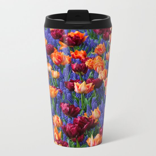 Flowerbed Medley Metal Travel Mug