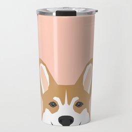 Shelby - Welsh Corgi gifts with corgi illustration for dog people and corgi owner gifts dog gifts Travel Mug