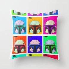 Boba-Hol Throw Pillow