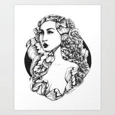 Flora (Line Art) Art Print