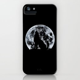 Wolf And Moon iPhone Case