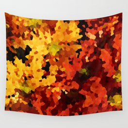 Yellow and Red Sunflowers Wall Tapestry