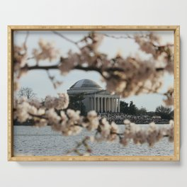 Jefferson Memorial Through the Cherry Blossoms Serving Tray