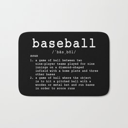 Baseball Definition Bath Mat