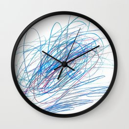 Full Of Energy Fotor Colored Pencil Wall Clock