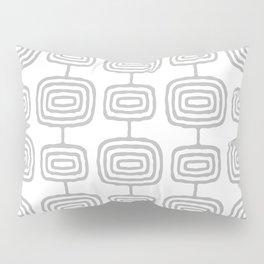 Mid Century Modern Atomic Rings Pattern Gray 3 Pillow Sham