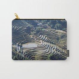 Terraced Rice Fields Rural Landscape, Vietnam Carry-All Pouch