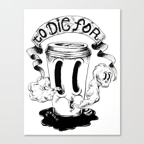 BLACK COFFEE Canvas Print