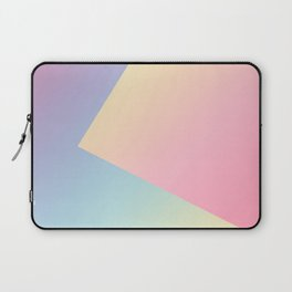 Geometric abstract pastel rainbow colors Laptop Sleeve