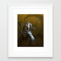 baphomet Framed Art Prints featuring Baphomet by Ejay Basford