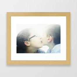 maya and caleb Framed Art Print