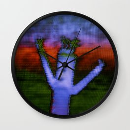 Bend - Glitch Wall Clock