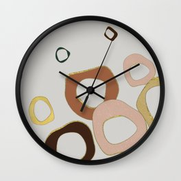 Circle is onesie colors Wall Clock