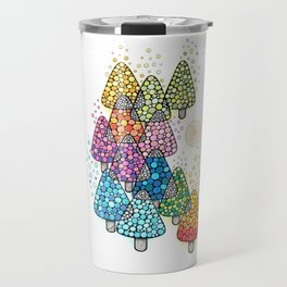 Bosque de pinos magicos Travel Mug