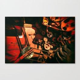 Scarlet Soviet Combine Warp Canvas Print
