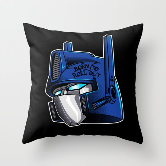 Full Metal Prime Throw Pillow
