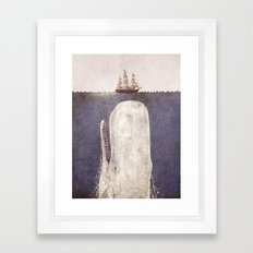 The Whale - exclusive purple variant  Framed Art Print