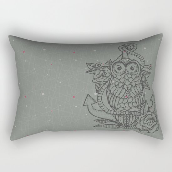owl, roses & anchor Rectangular Pillow