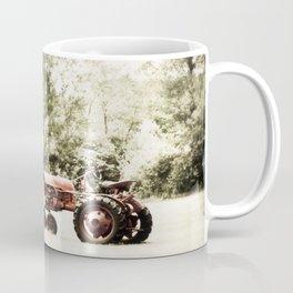 Vintage Red Tractor Coffee Mug