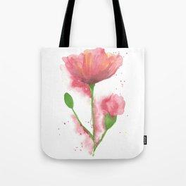 Pink Poppy Tote Bag
