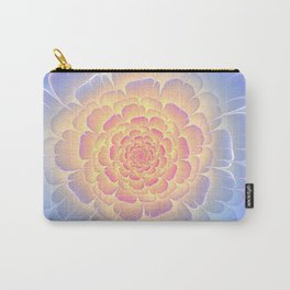 Romantic violet and yellow flower Carry-All Pouch