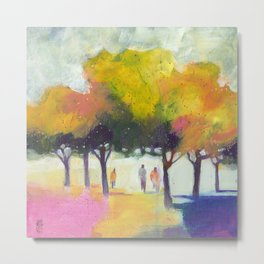 Promenade at the park. Metal Print