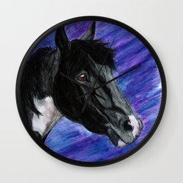 Watercolor Paint Horse Wall Clock