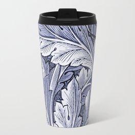 Acanthus Nouveau Style in Blue Travel Mug