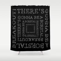 punk rock Shower Curtains featuring Borstal Breakout • Punk Rock Lyrics by Designerpunk