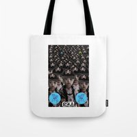 mass effect Tote Bags featuring Mass Effect by LOSKA