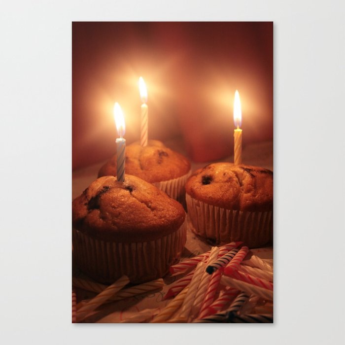 Birthday Cupcakes!!! Canvas Print