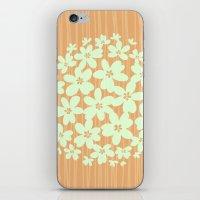 hawaiian iPhone & iPod Skins featuring Hawaiian Orange by Endless Summer