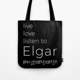 Live, love, listen to Elgar (dark colors) Tote Bag