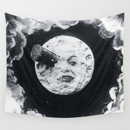 A Trip To The Moon Film Georges Méliès Wall Tapestry