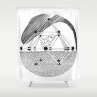 ohm Shower Curtains featuring Ohm. by Samuel Guerrero