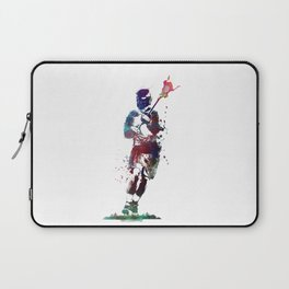 Lacrosse player art 2 Laptop Sleeve