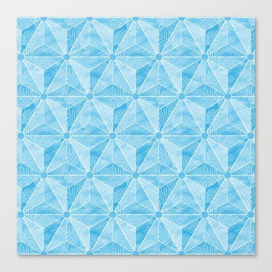Geodesic Palm_Blue Sky Canvas Print