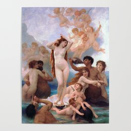The Birth of Venus by William Adolphe Bouguereau Poster